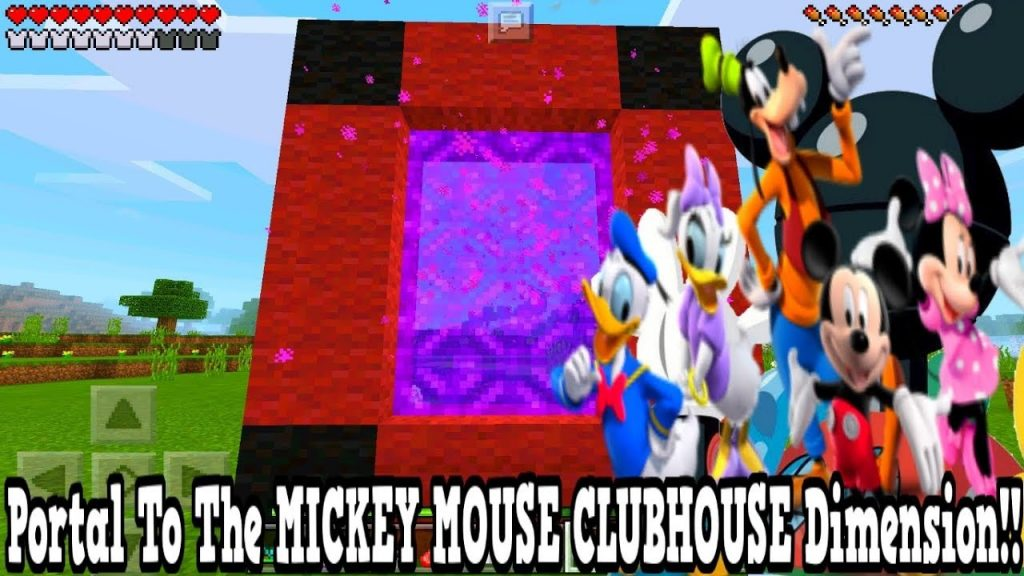 Minecraft Pe – Portal To The Mickey Mouse Clubhouse