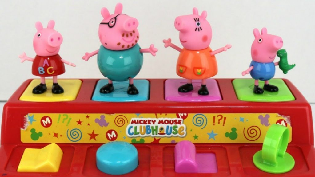 Nickelodeon Peppa Pig Pop Up Egg Surprises With George Mickey Mouse