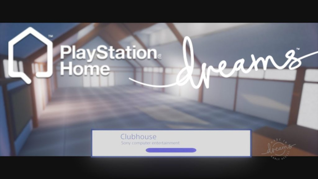 DREAMS early access – playstation home clubhouse private space and menu logic
