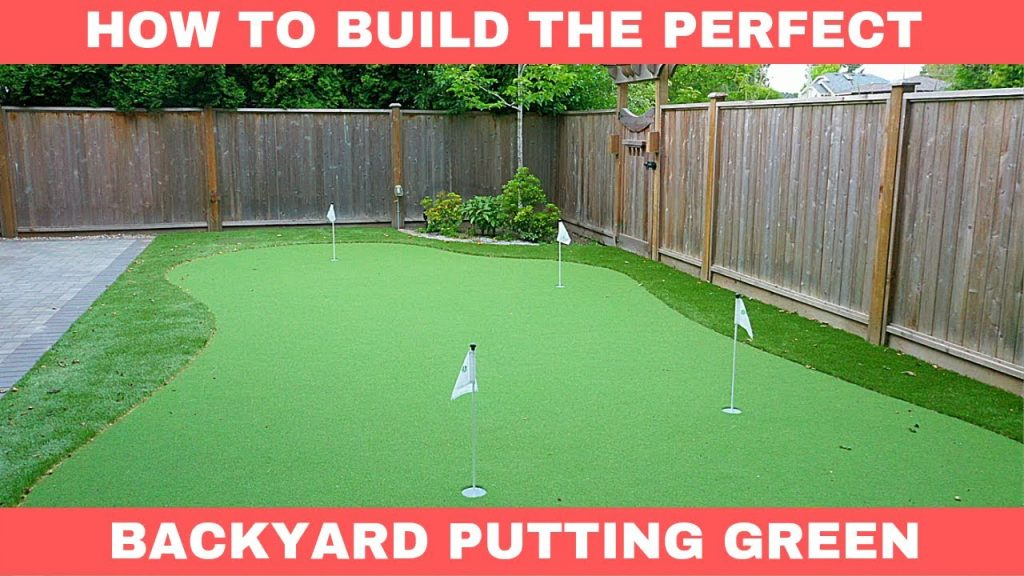 Behinds the Scenes – How to Build the PERFECT Home Putting Green
