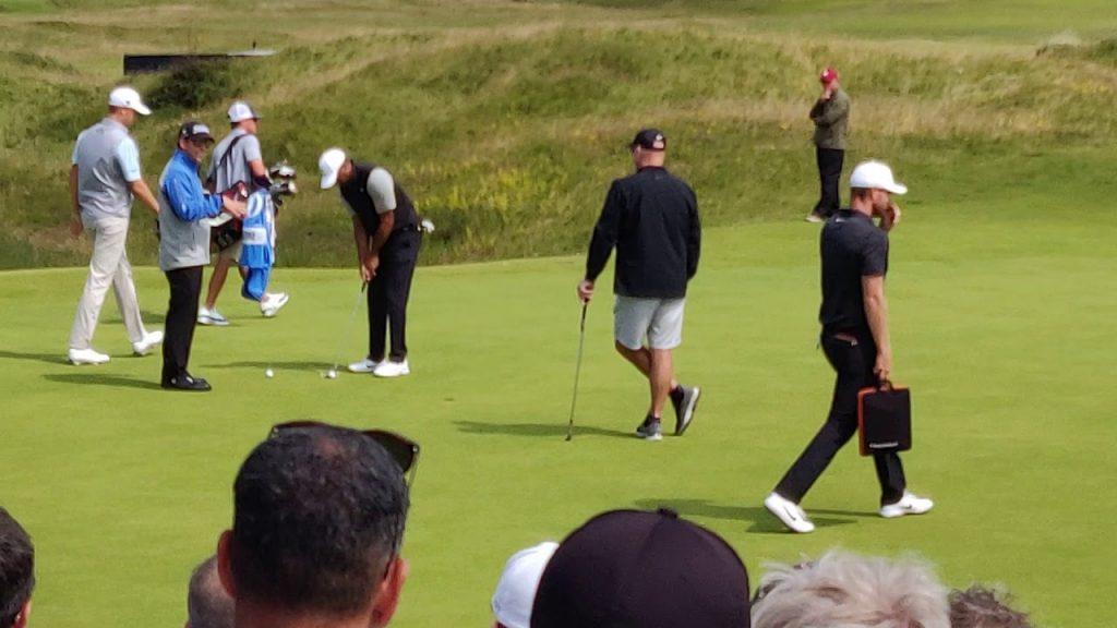 Tiger Woods Practice Putting Green 2019 Open